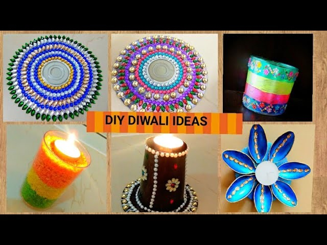 DIY Diwali. Diya Stand for this Diwali!! Zero Cost Diya stands!!