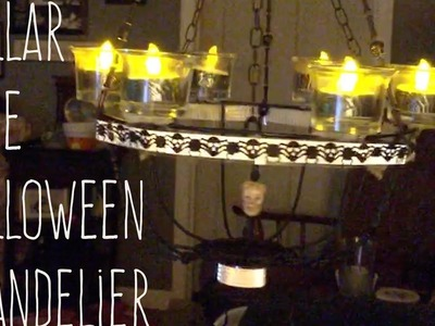 DIY Dollar Tree Halloween Chandelier
