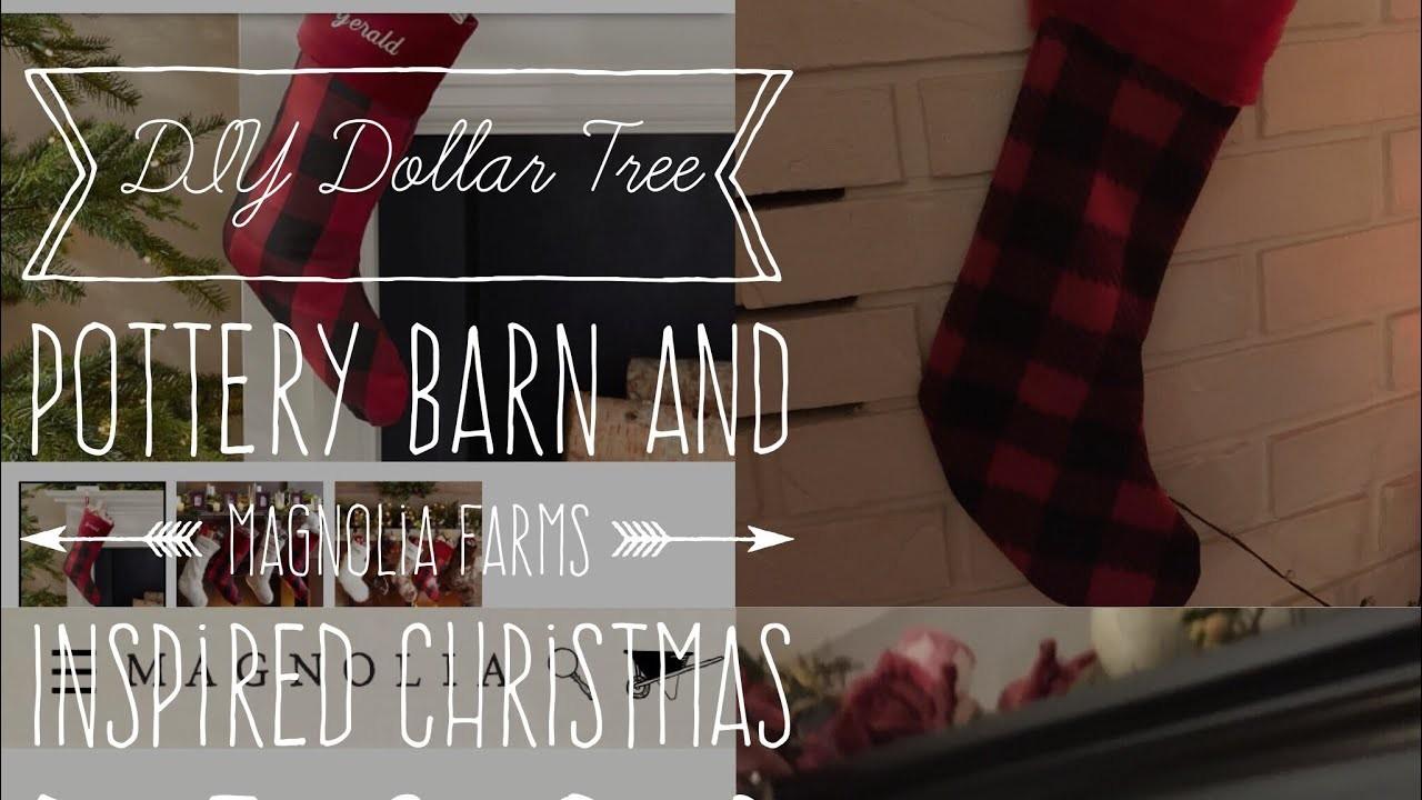 DIY Dollar Tree Pottery Barn And Magnolia Farms Inspired Christmas Decor For Less