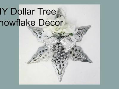 DIY Dollar Tree Snowflake Holiday Decor