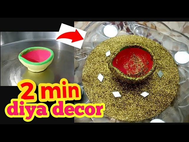 Diy easy diwali diya decoration 2017