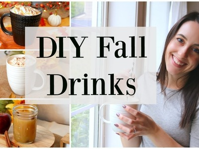 DIY Fall Drink Recipes - Pumpkin Spice Latte, Salted Caramel Mocha, Apple Cider♡ NaturallyThriftyMom