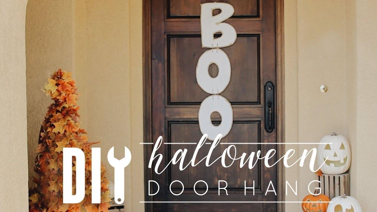 DIY Halloween Decor | Cheap & Easy Door Hang!