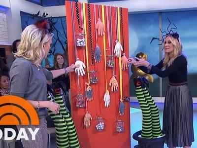 DIY Halloween Decor Hacks: Spooky Doors, Spider Hats, Witches Legs   Megyn Kelly TODAY