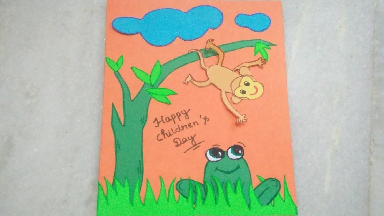 Diy Handmade Greeting Card Making Idea For Children Day 2017 Tukkutv