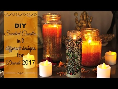 DIY Home Decor: DIY Scented Candles | How to make Scented Candles: 3 different decoration ideas