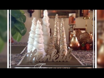 DIY Home Decor Fur And Foil Christmas Tree update Creating Elegance For Less Faithlyn McKenzie 2017