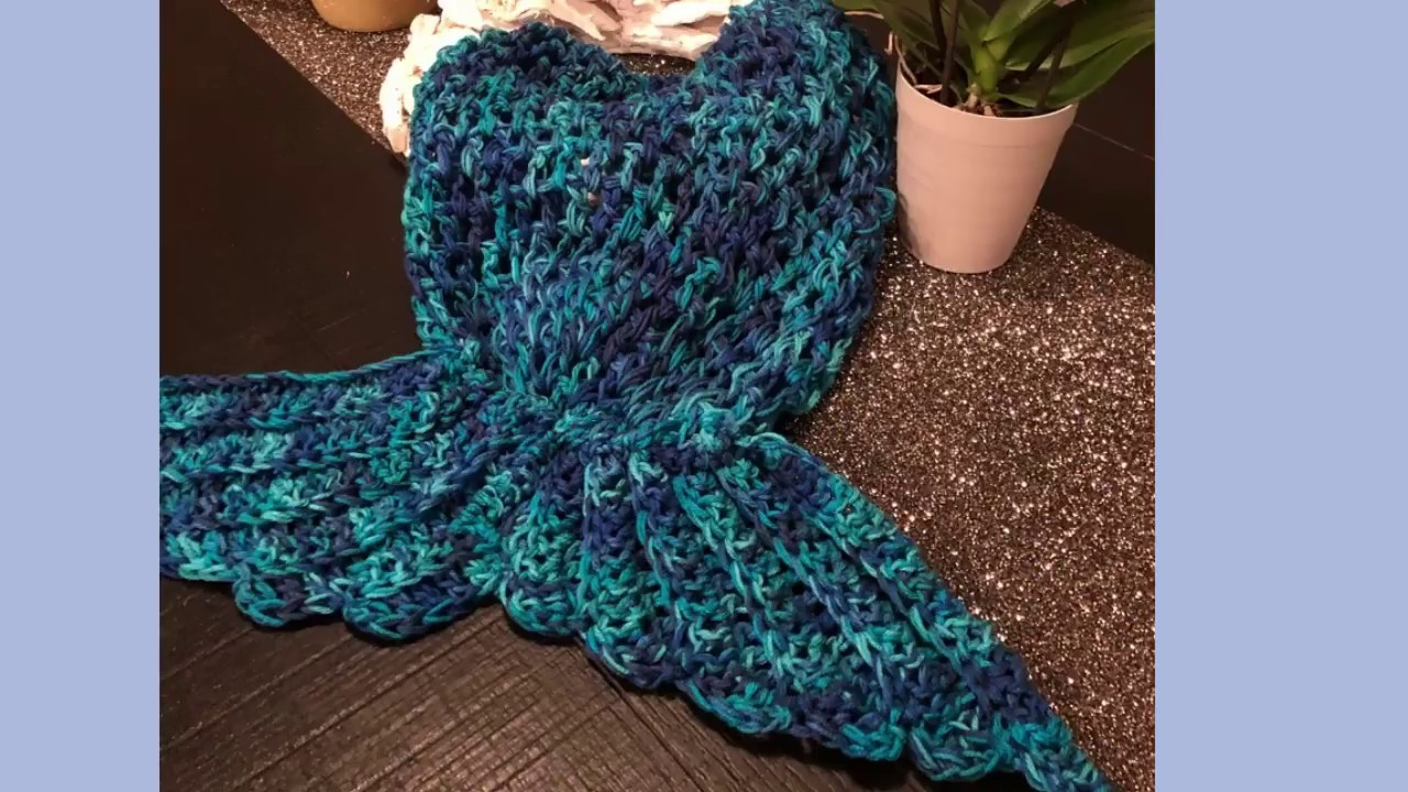 DIY How to crochet a mermaid tail Snuggie