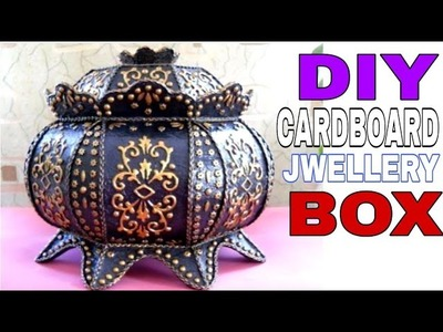 Diy Jwellery box    cardboard Jwellery box    How to make Jwellery box    Diy diwali gift box