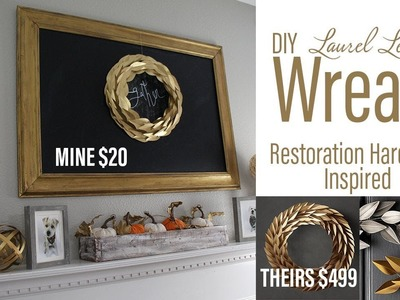DIY Laurel Leaf Wreath - CRICUT- Restoration Hardware knock off