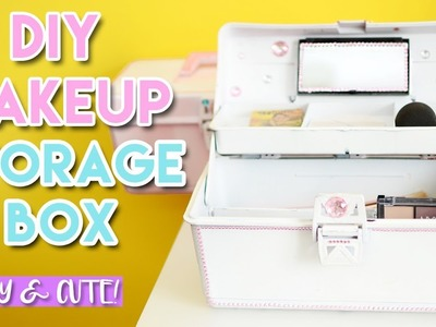 DIY MAKEUP STORAGE BOX EASY AND CUTE + GIVEAWAY l CSMAKEUP.MY