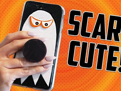 DIY PHONE CASE - ???? CUTE HALLOWEEN GHOST POPSOCKET CASE