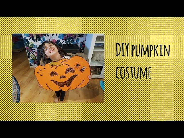 Diy super easy last minute Halloween pumpkin costume