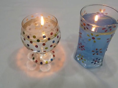 DIY Water Candle - Last minute Christmas Decoration Ideas | Very Easy and Quick