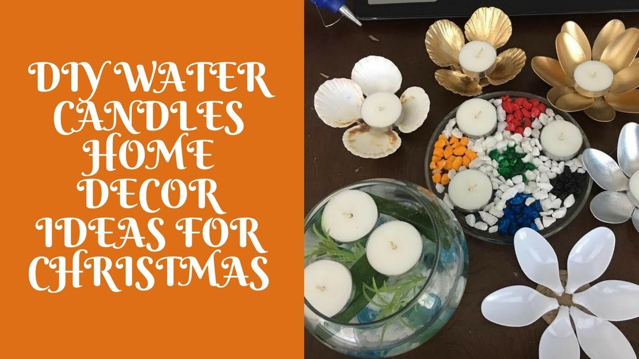Diy water candles Home Decor Ideas for Christmas