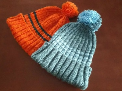 DIY Woolen Cap with Pom Pom by Kalpana Talpade. गोंडा असलेली लोकरीची टोपी. Winter Hat