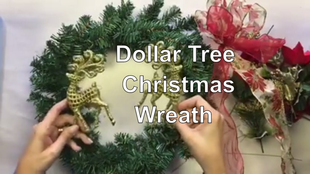 Dollar Tree Christmas Wreath - Cheap Christmas DIY Decor - Decorate for Christmas on a Budget