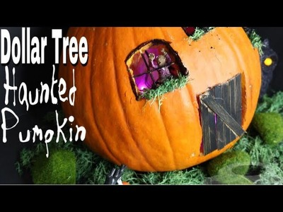 Dollar Tree DIY Fairy Garden Pumpkin House