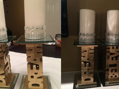 Dollar Tree DIY - ???? Mirrored Pillar Candleholders????