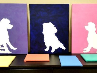 Easy DIY Wall Art: Canvas Silhouettes! Great GIFT Idea!