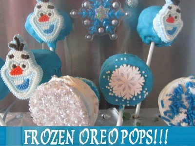 FROZEN Olaf & Snowflake ! DIY-6 Easy Ways to Make Oreo Pops! Inspired by Disney Frozen Movie