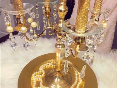Glam DIY Candelabra -  Christmas series