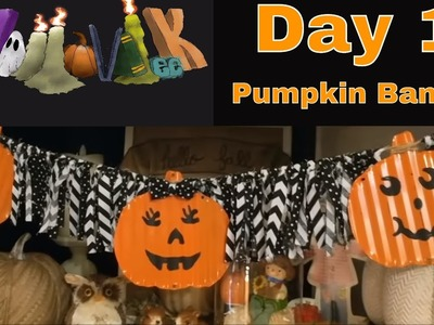 HalloWEEK Day 1 ???? Halloween DIY, Dollar Tree Pumpkin Banner!