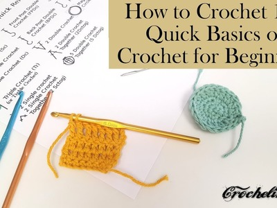 How to Crochet for Beginners, Everything you need to know to Crochet round and square projects