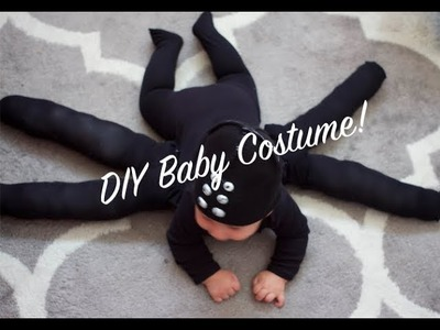 How To DIY Last Minute Baby Spider Costume