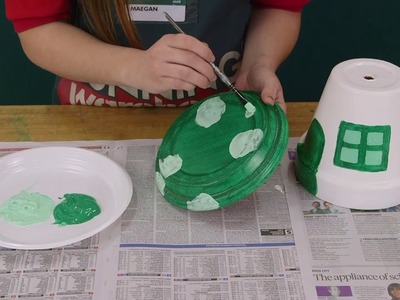 How To Make A Flower Pot Mushroom House - D.I.Y. At Bunnings