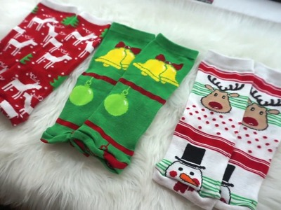 HOW TO MAKE BABY LEG WARMERS FROM SOCKS