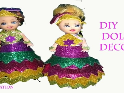 How to make doll decoration.diy doll decoration