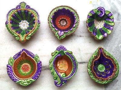 How to paint.decorate diyas for diwali DIY. diwali decoration ideas