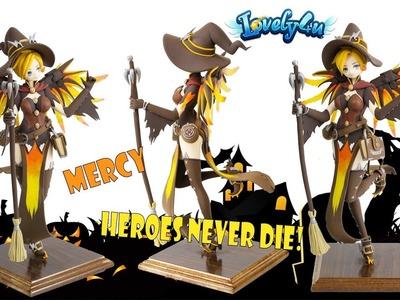 Lovely4u | VO66 |How to make Halloween Mercy Clay Doll | DIY Clay Figure Tutorial