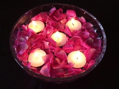 SS Rangoli | How to Make Floating Diya | Floating Candles | DIY Diwali. Christmas Home Decoration