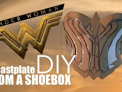 Wonder Woman Low-Budget DIY Breastplate from a Shoebox | PART 1 ????