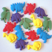 15 Novelty coloured edible Dinosaurs - Birthday Cupcake Topper decorations