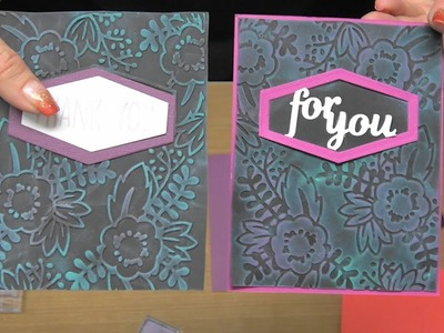#224  Sizzix Super DEAL & Embossing Folders, Pigment Inks & Black Paper by Scrapbooking Made Simple