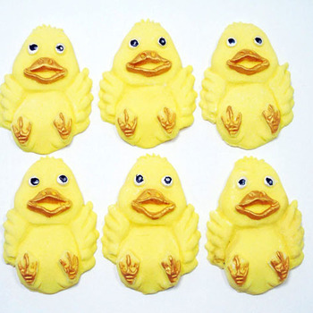 6 Edible Happy Ducks Cupcake Cake Topper Decorations