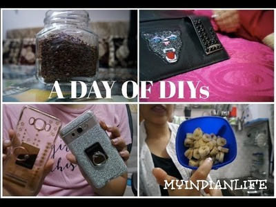 A DAY OF DIYs - DIY HEALTHY ICECREAM, REVAMPING MY  WALLET, PHONECASE , HOME DECOR!