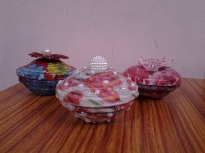 Best Out Of Waste Paper Mini Gift Container