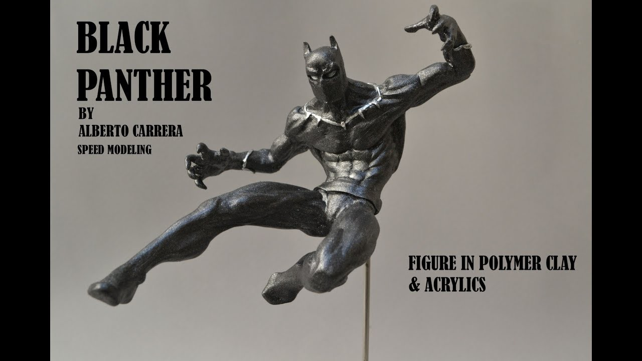 Black Panther  (speed modeling figure in polymer clay)