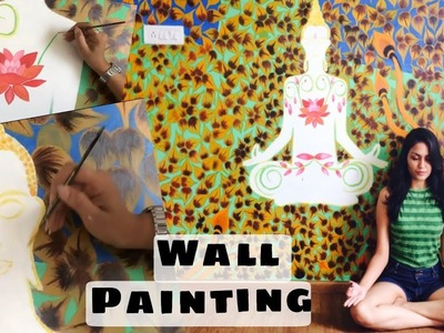Buddha Wall painting timelapse | Easy and simple wall painting DIY