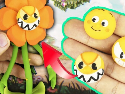 """CAGNEY CARNATION from CUPHEAD """"TUTORIAL"""" ✔POLYMER CLAY ✔COLD PORCELAIN"""