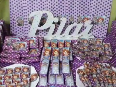 Candy bar. princesa sofia. ideas para cumpleaños. by miaflor manualidades