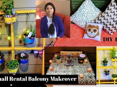 DIY BALCONY MAKEOVER l Balcony Organization  & Decor Ideas l DIY BENCH & Planter l Reallife Realhome