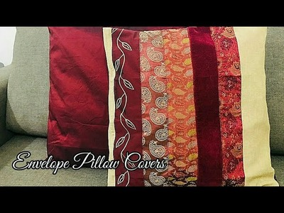 DIY- Cushion covers.How to sew an envelope cushion covers.Easy and fast five minute pillow covers