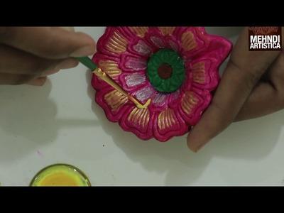 DIY Deepawali Diyaa Decoration Idea | 2 mints Mein Diya Sajaye Khud Se( Creative Idea for Diwali )