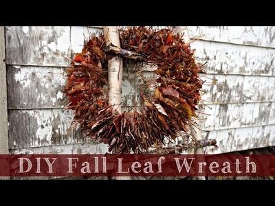 DIY Fall Leaf Wreath | Super Easy