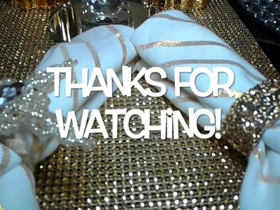 DiY Glam Napkin Rings!Blue and Gold Series video #3
